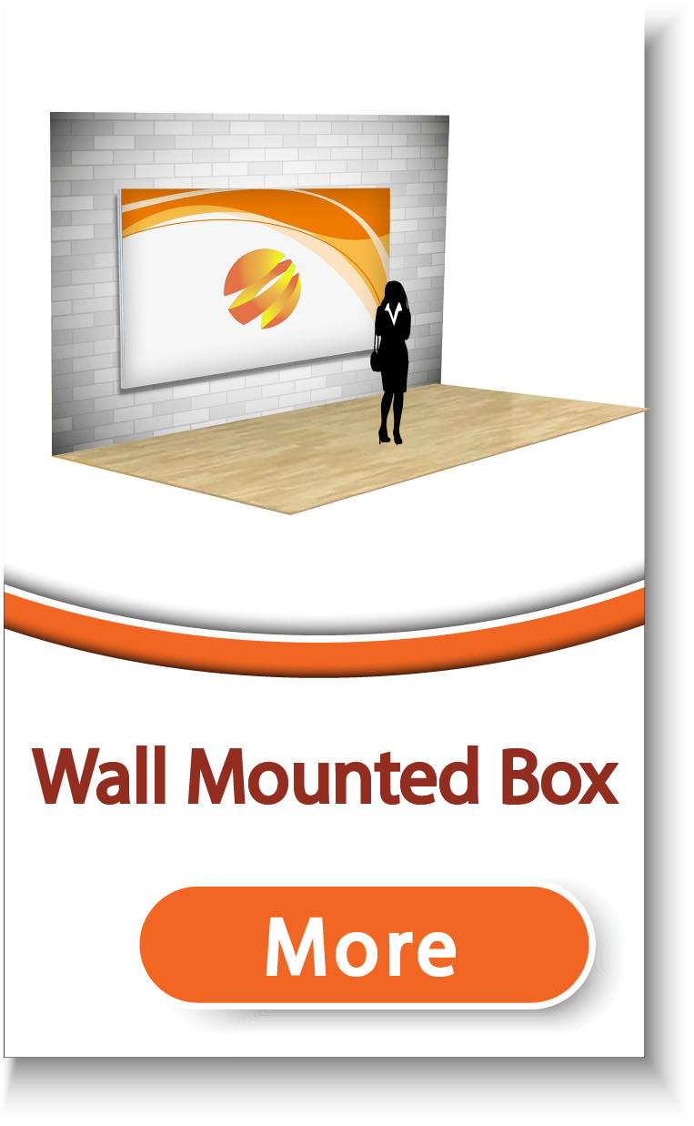 SEG Wall Mounted Fabric Box (LED optional)