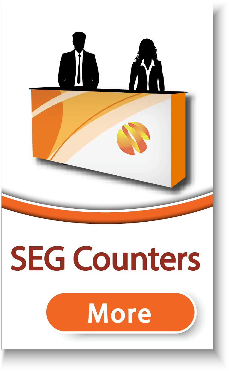 SEG Fabric Display Counters & Podiums